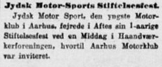I Stiften 1923-02-28 kunne man læse om klubbens 1-års stiftelsesfest. Heraf kan man nok udlede, at denne klub er stiftet i februar 1922.
