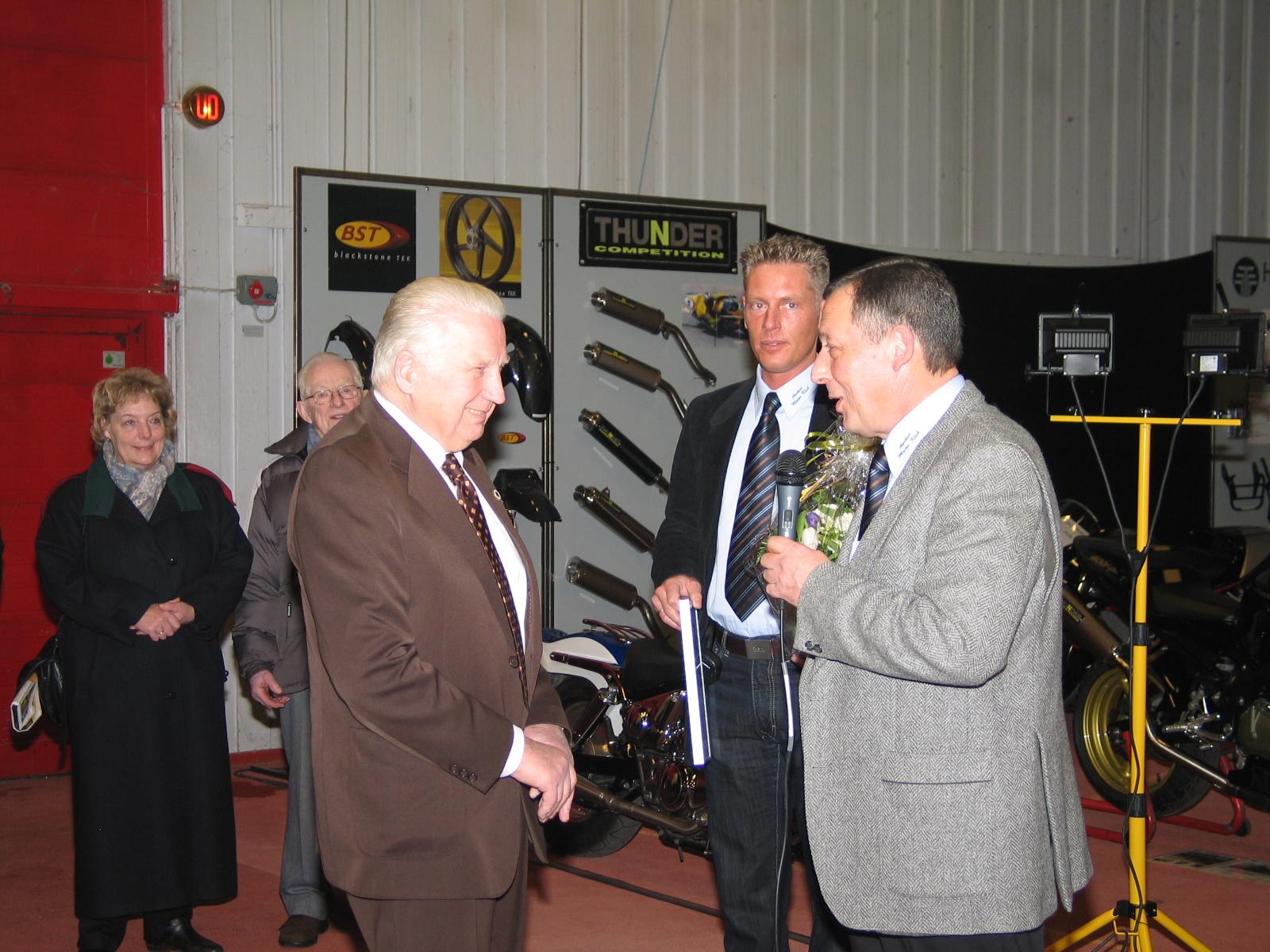 Carl, Morten Hvolby og formanden.
