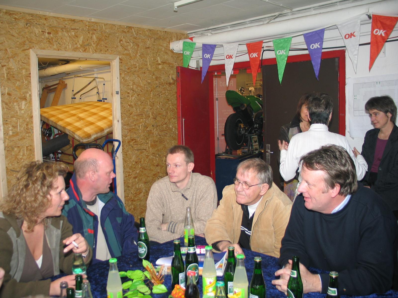 Møde i Base-camp Kathrine Kroon, Jesper Hald, Jørgen Vendelbo, Henning og Steen.