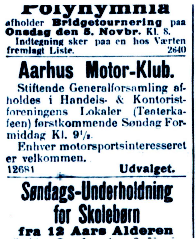 """1. nov.1913 bringer """"Stiften"""" denne annonce."""