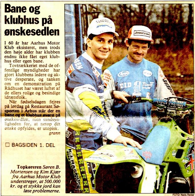 Avisklip Søren B.-Kim Vester Eng AMK 60 år 25-1-90 Forside