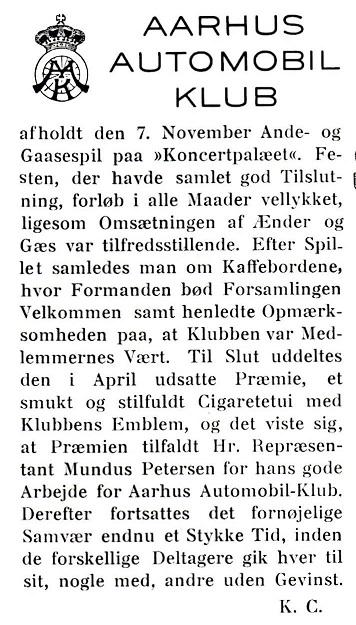 Jydsk Motor 14.11.1930