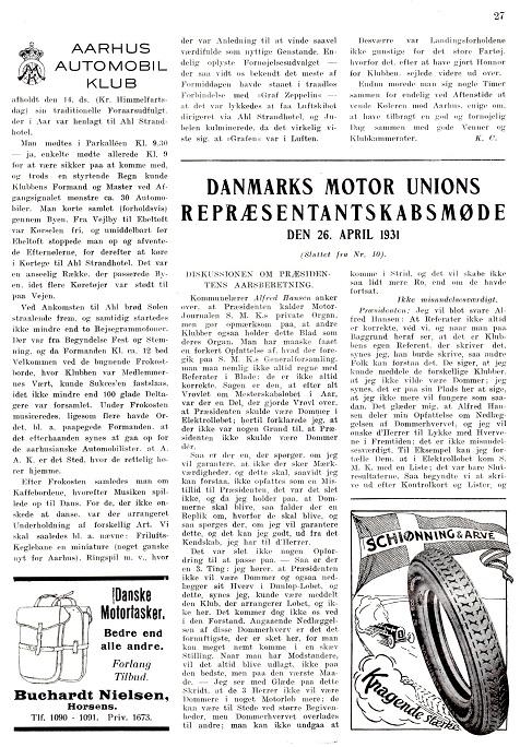 Jydsk Motor 29.05.1931