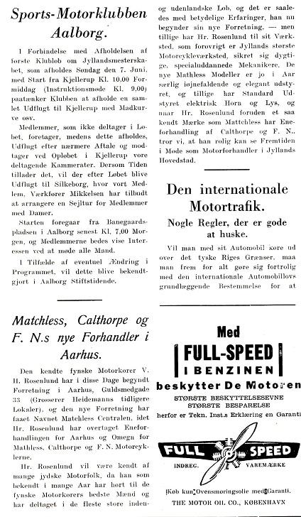 Jydsk Motor 29. maj 1931