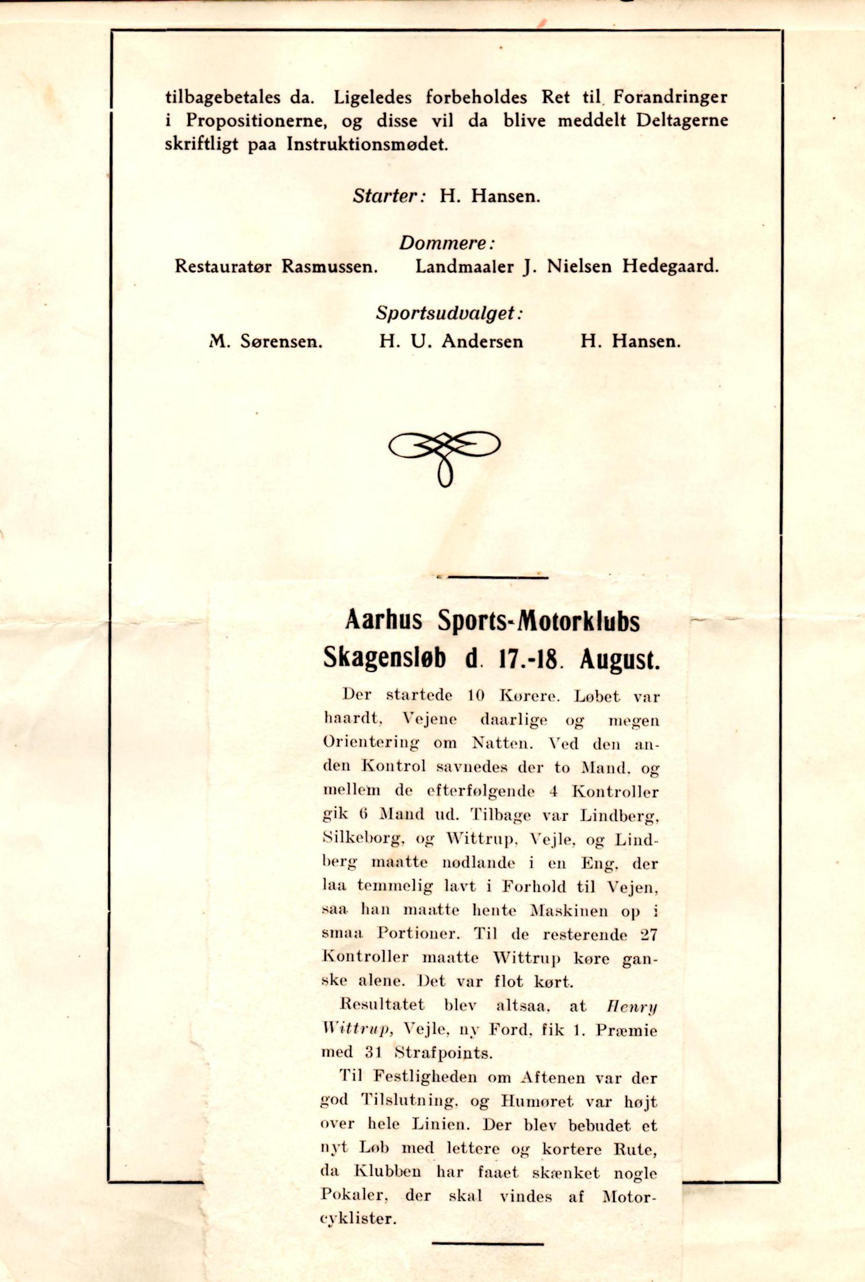 Tillægsregler/resultat 1929-3