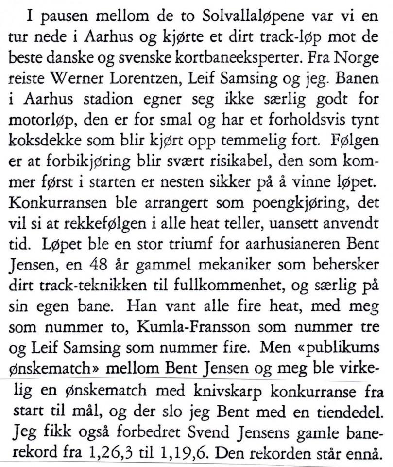 """Leif """"Basse"""" Hveem har skrevet en bog """"På 2 hjul"""",hvorfra dette klip om stævnet i Aarhus er taget."""