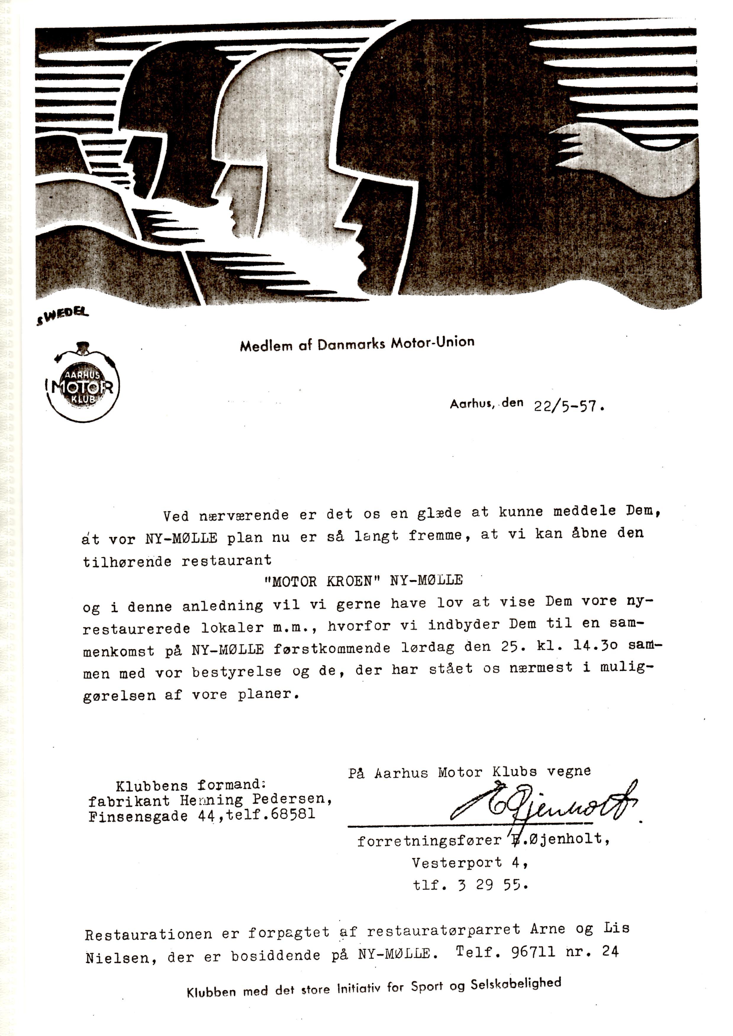 25. maj var der klar til åbningsreception og indbydelser blev sendt ud