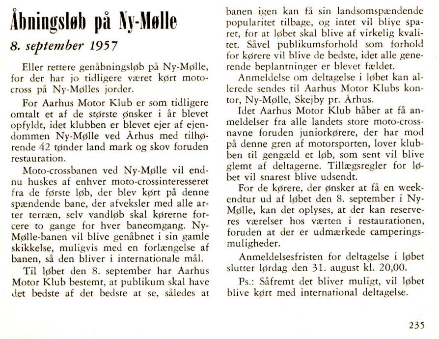 Ny Mølle foromtale DMU blad aug 57