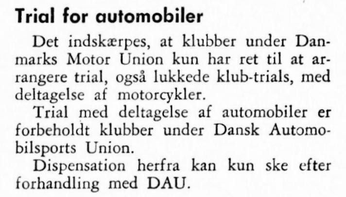 MB januar 62 med notitsen vedr. automobiler i DMU-løb.