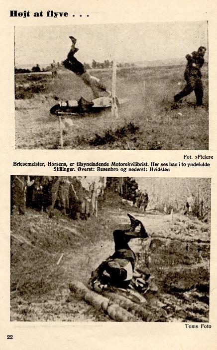 DMU bladet januar 47 viste på nederste billede en situation fra Hvidsten-løbet.