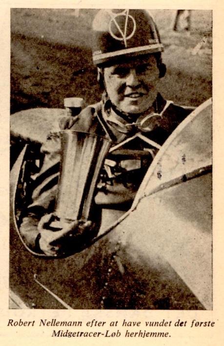 Nellemann med pokalen, billede bragt i januar 48.