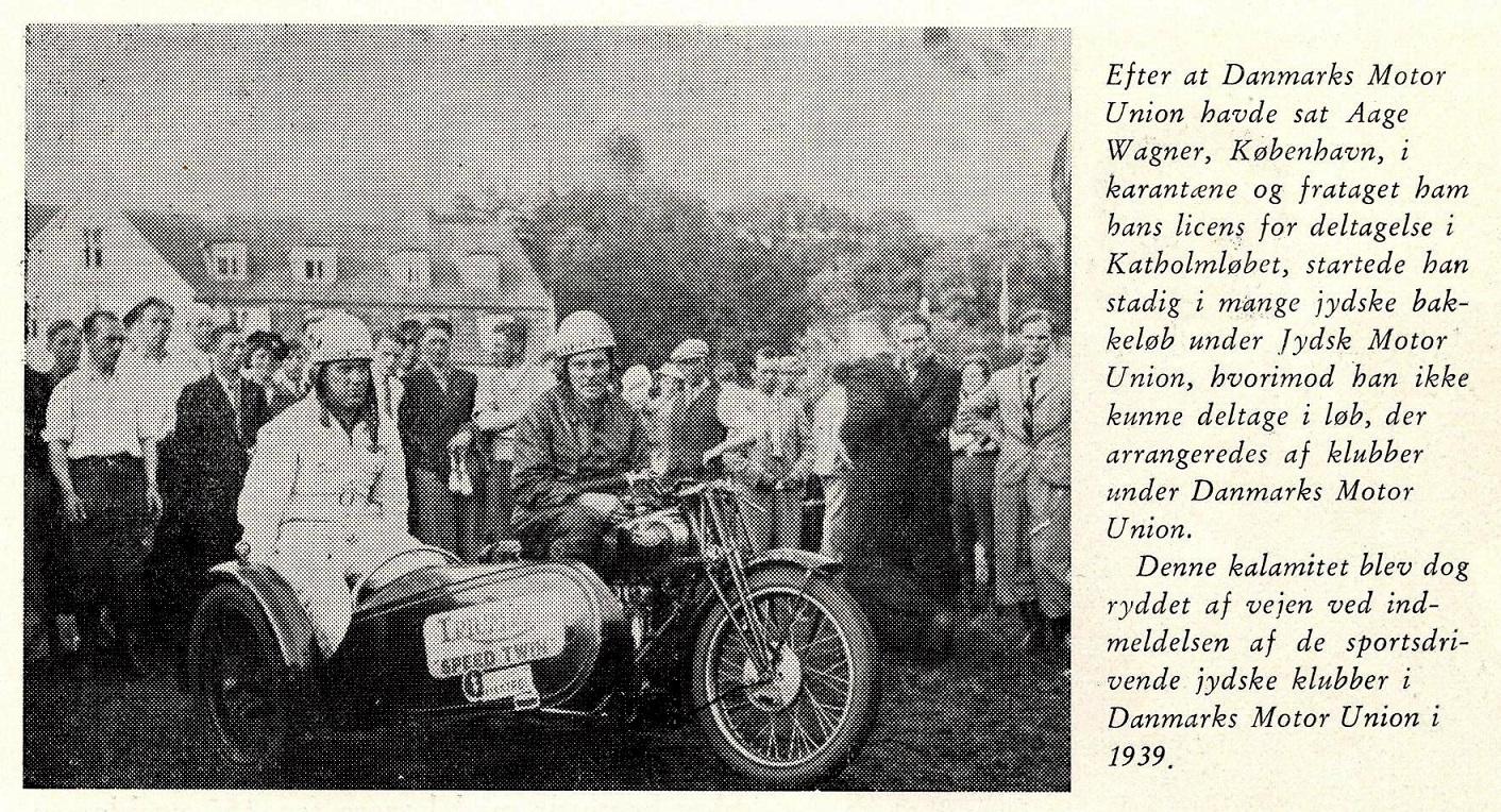 Aage Wagner var en af de københavnere, som blev udelukket fra DMU-løb, fordi han havde stillet op i Katholm løbet.