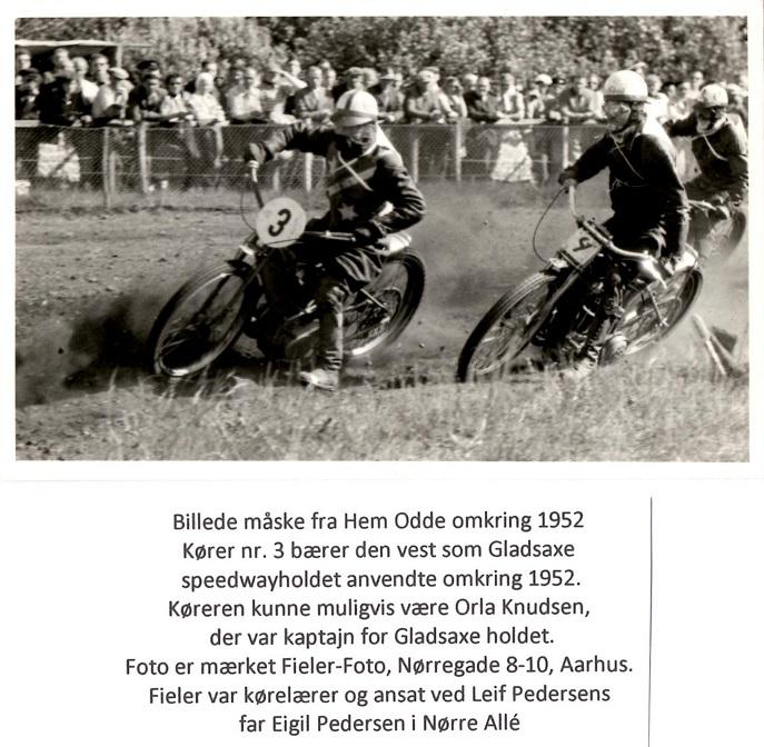 Sandsynlig løbsdato for billedet er 17. aug. 1952. Nr. 4 skulle så være Lindegaard Petersen.