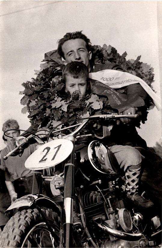 Arne Pander vandt DM på 250cc Puch.