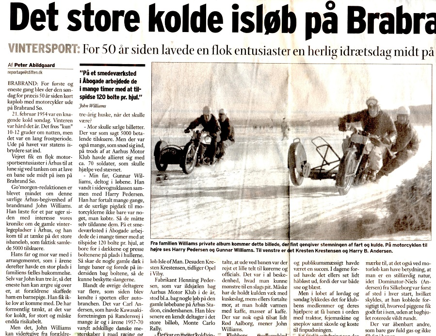 Aarhus Stiftstidendes artikel 50 års artikel fra løbet.