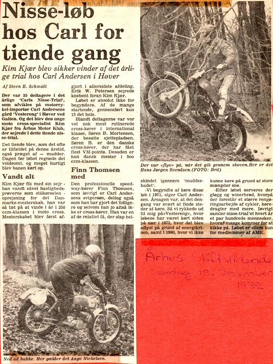 Stiften dækkede løbet i 1982.