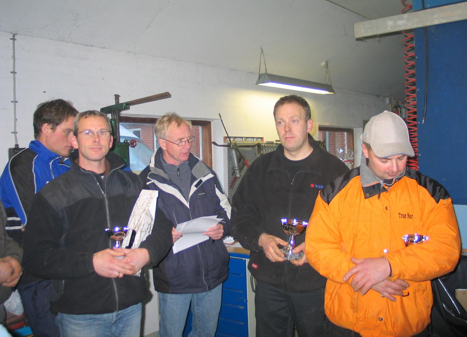 Vindertrioen, Henrik Arvad tv blev treer, Lars Sørensen th  blev toer.