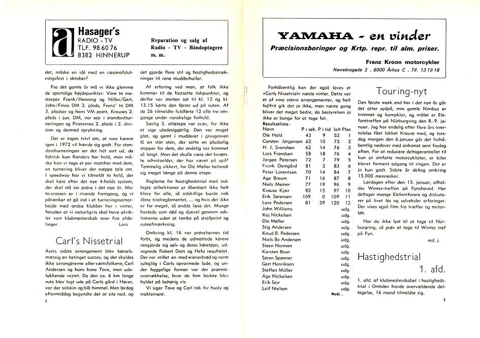 Annoncering af Nissetrial 1972-2.side