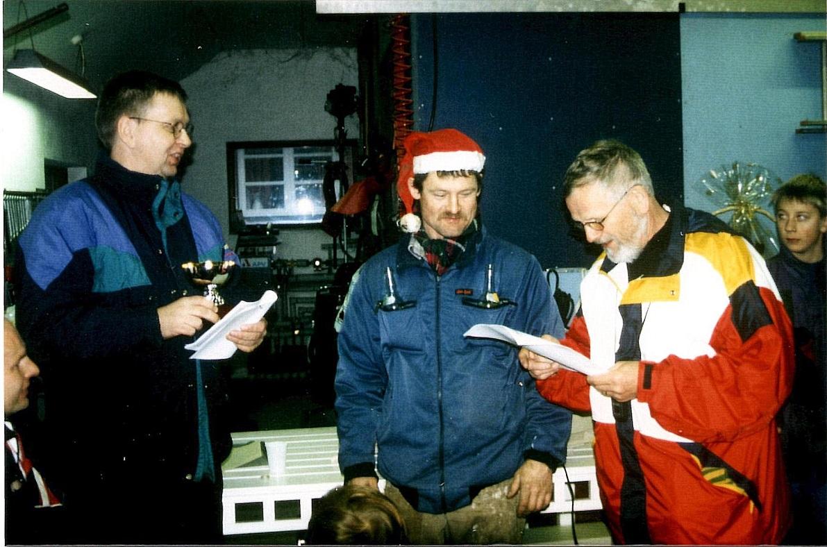 1997. Kim måtte denne gang nøjes med 5. pladsen. Tv. Knud Møller, th Niels Laustsen.