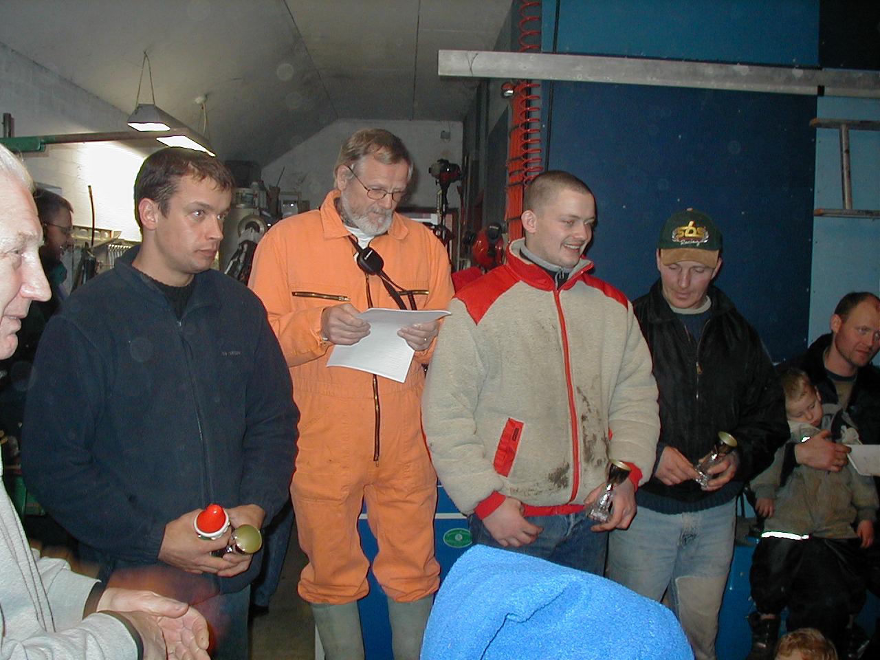 Kenneth Mikkelsen tv blev nr. 3 og Michael Dyrlund mellem Niels Laustsen og Søren B. blev nr. 4