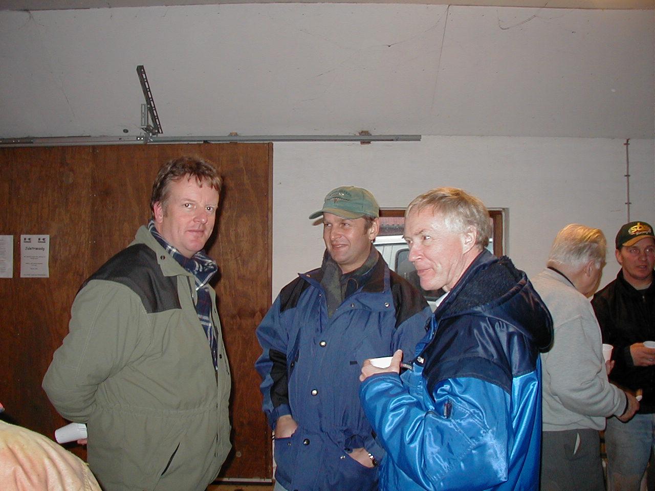 Steen Normann, Søren Kolind (Stoke) og Lars Pedersen.