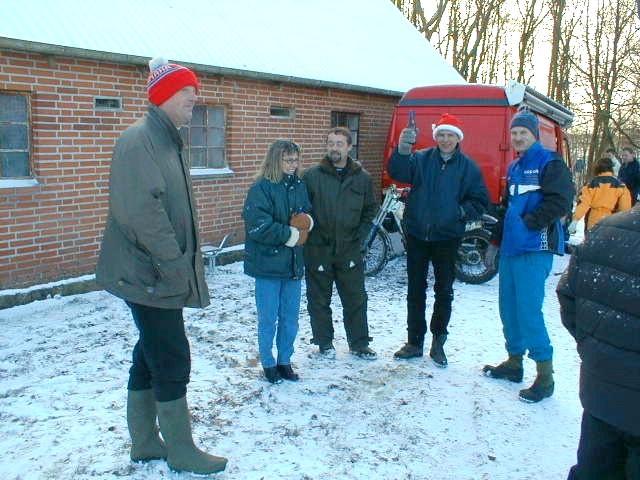 Fra venstre Steen Normann, Gitte Sørensen,?,Svend Andersson og Steen Boris.