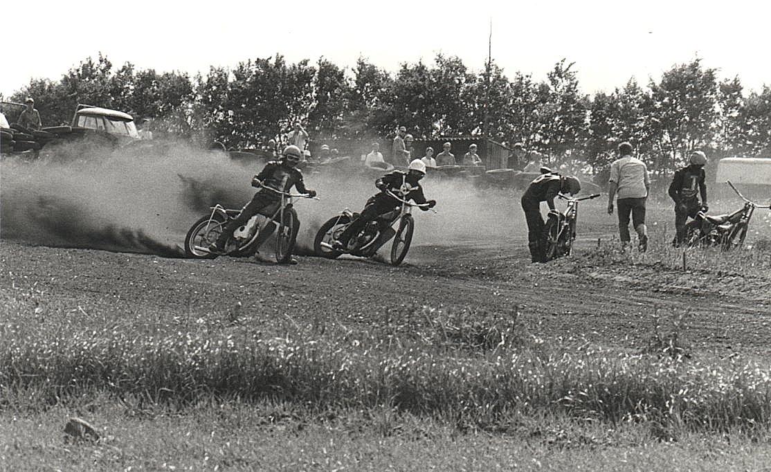 Hvidsten 1970-06-13 Fra venstre Kurt Schelde,Finn Møller,Mogens Dam og Nes Nielsen