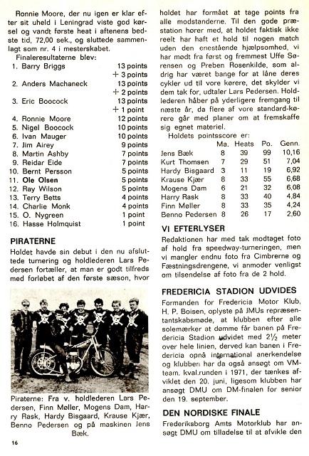 Omtale i DMU blad 1970