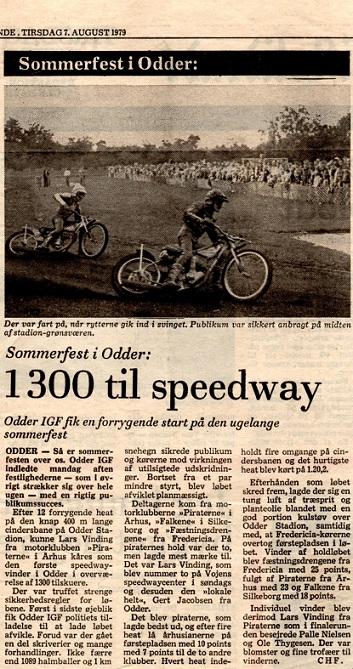 Avisomtale efter stævnet i 1979.