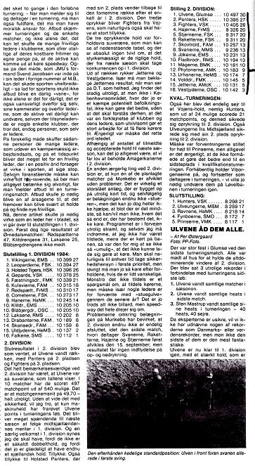 1984. Pythonerne bliver nr. 12 i 2. div.