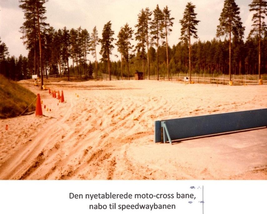 Startområdet på den nye crossbane på Brovallen.