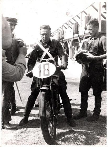 Finnen Sirkia, der vandt den internordiske 500cc klasse.