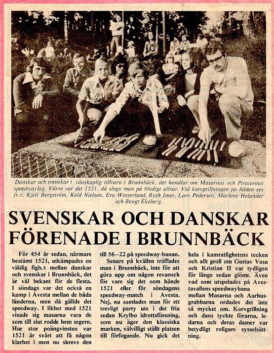 Avisartikel drager svenskekrigene ind i vores venskabelige forhold.