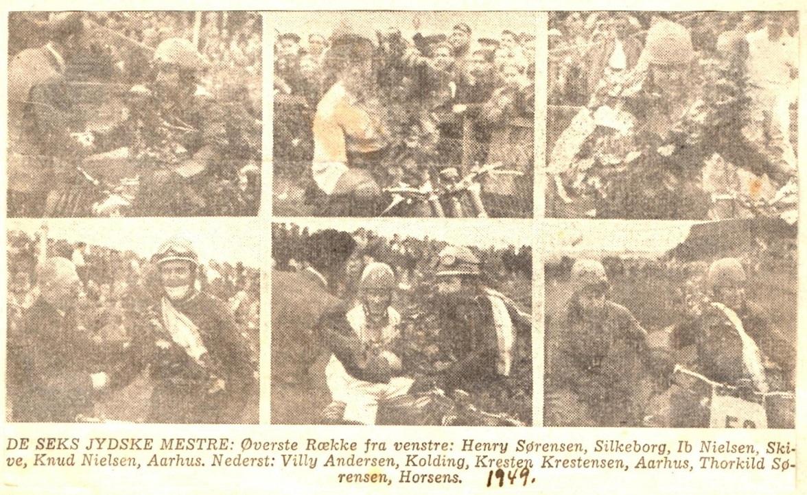 JM Hem Odde 1949. De Jydske Mestre i et avisklip.
