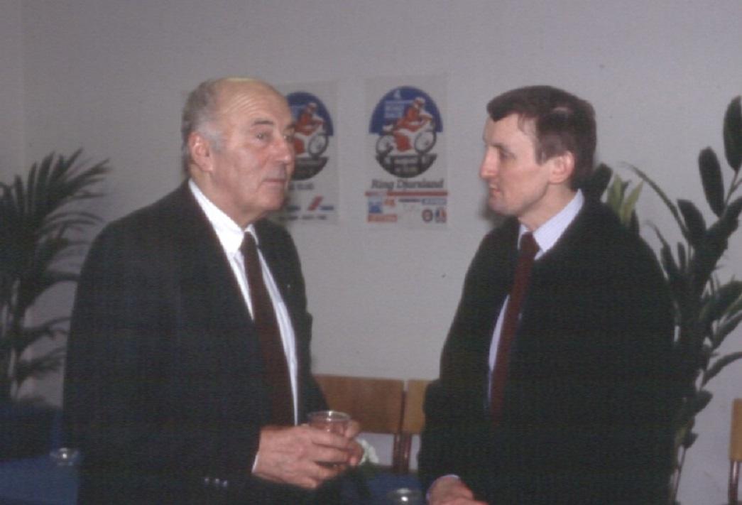 Knud og Krause i snak ved 60 års Jubilæet på Søsporten