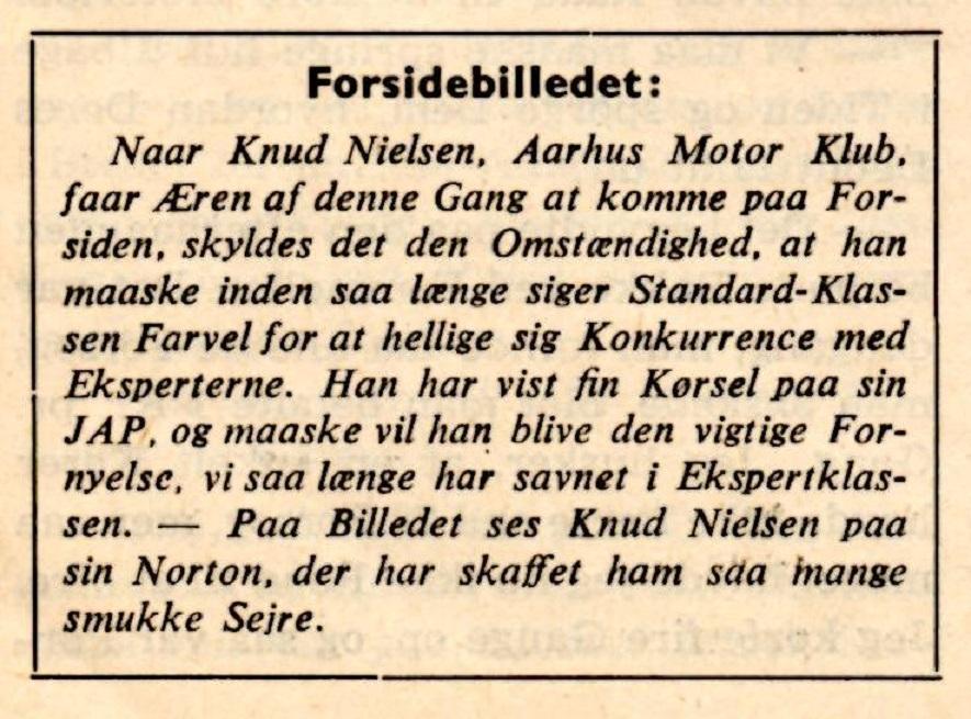 Spekulationer i DMU bladets maj nummer 1948.