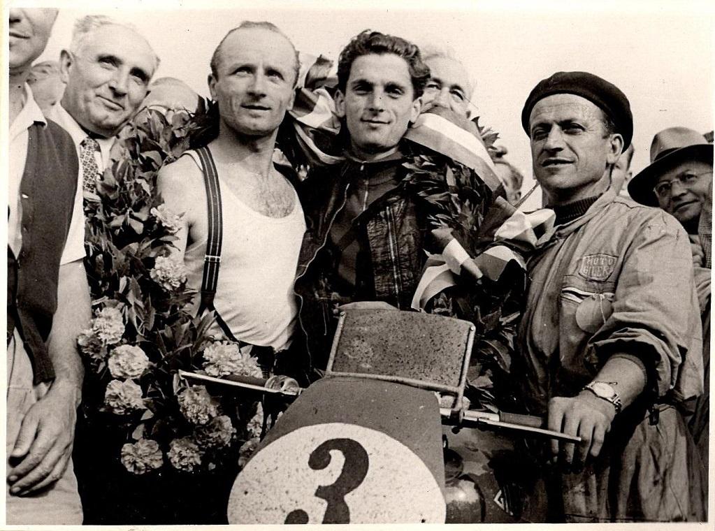 Gilera var stærkest i 500cc klassen. Vinder blev Umberto Masetti.