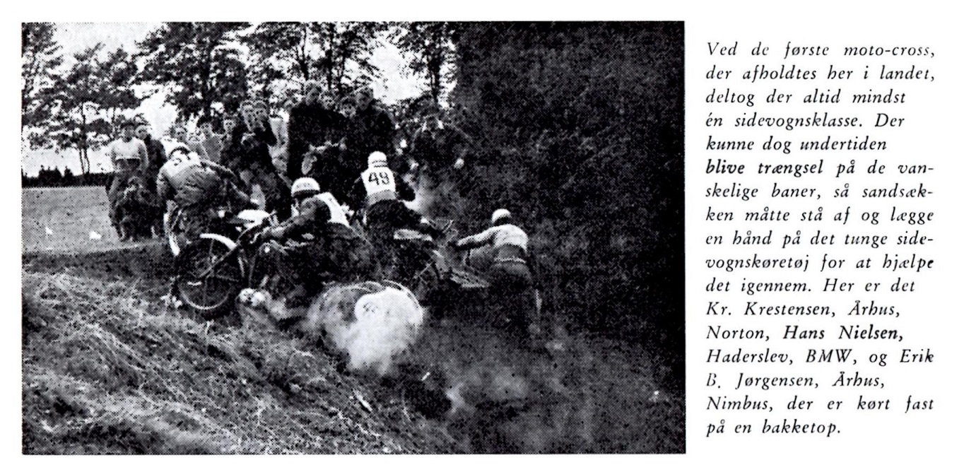 Kresten vandt sidevognsklassen ved åbningsløbet på Ny Mølle i okt. 1951. Billedet her er fra Den Blå Bog.