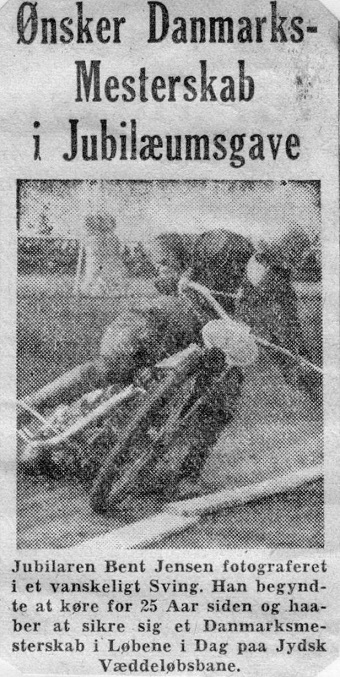 Foromtale i en avis op til DM-løbet i 1951.
