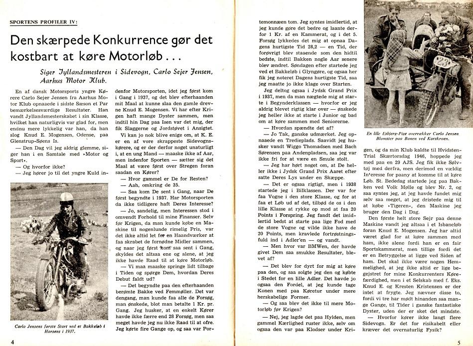 Interview med Carlo i DMU blad maj 1948 img1