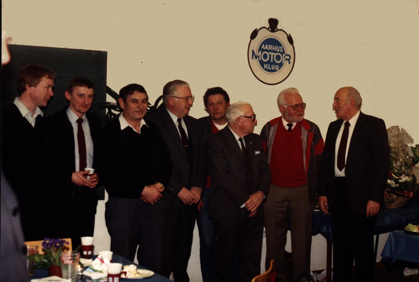 Klubbens 60 års jubilæum på Søsporten i 1990, Carlo nr. 2 fra højre.
