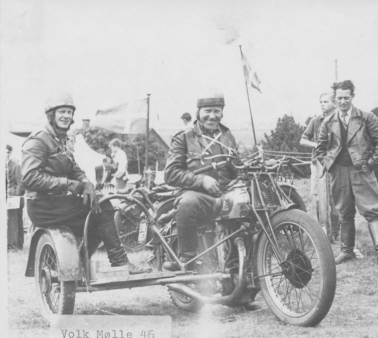 Volk Mølle bakkeløb 1946, Carlo og Erling Pedersen.