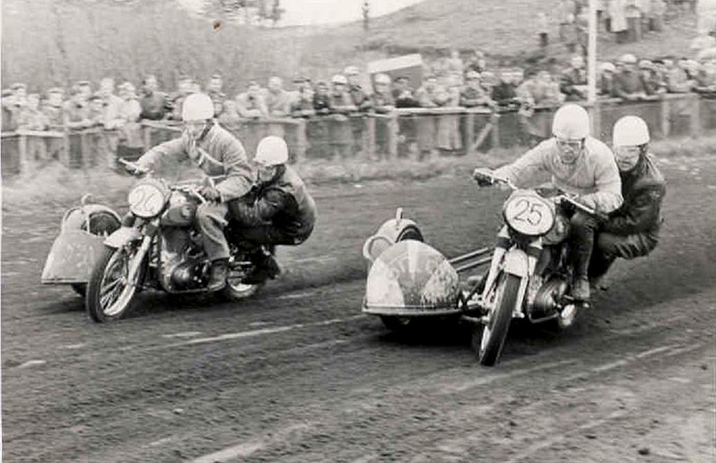 Hem Odde maj 55. Harry og Kresten i en af deres mange indbyrdes dueller i disse år.