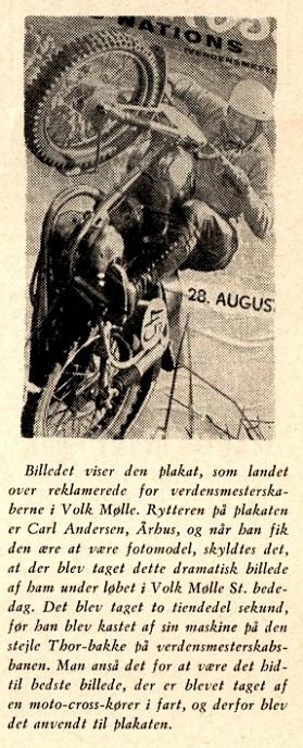 DMU bladet sept. 1955 gav en forklaring til billedet, og hvorfor det endte på plakaten til MCdN.