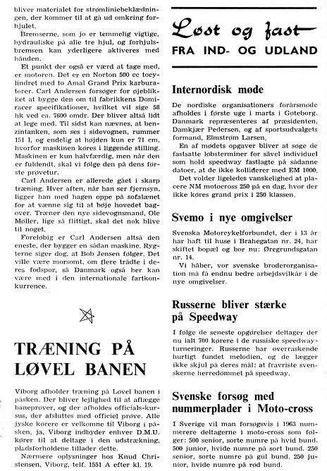 Henning Elmstrøm skrev denne artikel til DMU-bladet om den nye TT-racer img2. MB marts 63.