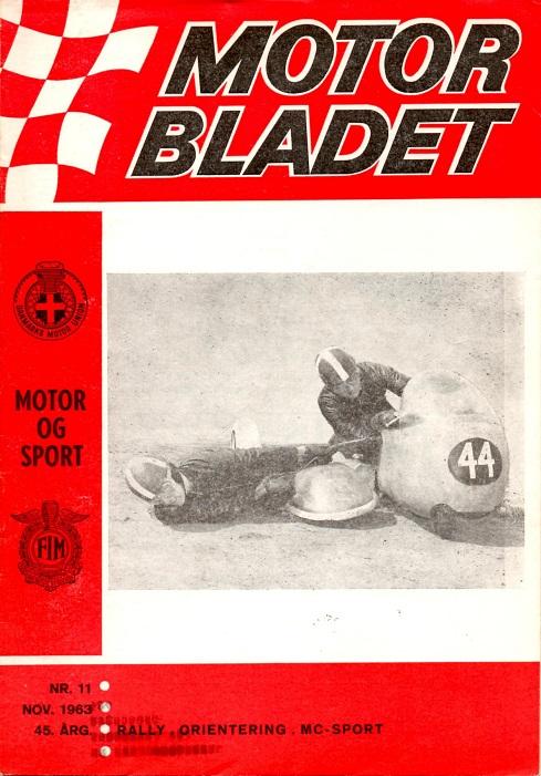 Sidst på året kommer snydebilledet på forsiden af DMU-bladet. MB nov. 63.