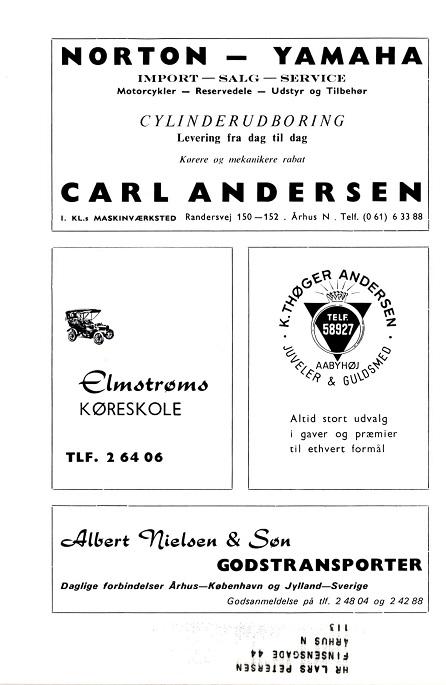 Klubbladsannonce fra april 1966, hvor der slås et slag for både Norton og det nye mærke Yamaha.