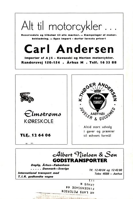 Klubbladsannonce okt. 1969, hvor der også reklameres for AJS.