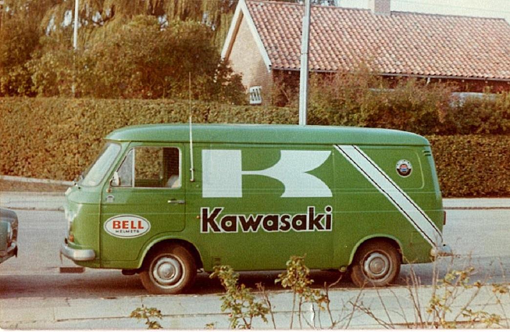 Sådan var bemalingen på firmabilerne omkring 1978.