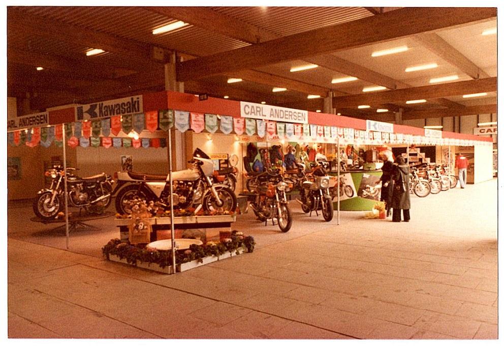 Fra MC-messen i Herning 1978
